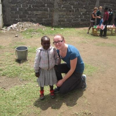 Emily O in Kenya